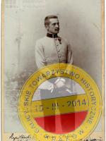 Cezary Haller w mundurze kapitana c. k. Armii Austro-Węgier. ANK, Spuścizna Anny Haller, sygn. AH 43/8.