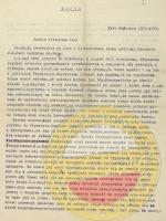 Pierwsza strona odpisu listu ks. Al[ojzego] Gałuszki, proboszcza w Kończycach Małych, do Magdaleny z Łęskich Hallerowej. ANK, Spuścizna Anny Haller, sygn. AH 31, s. 1.