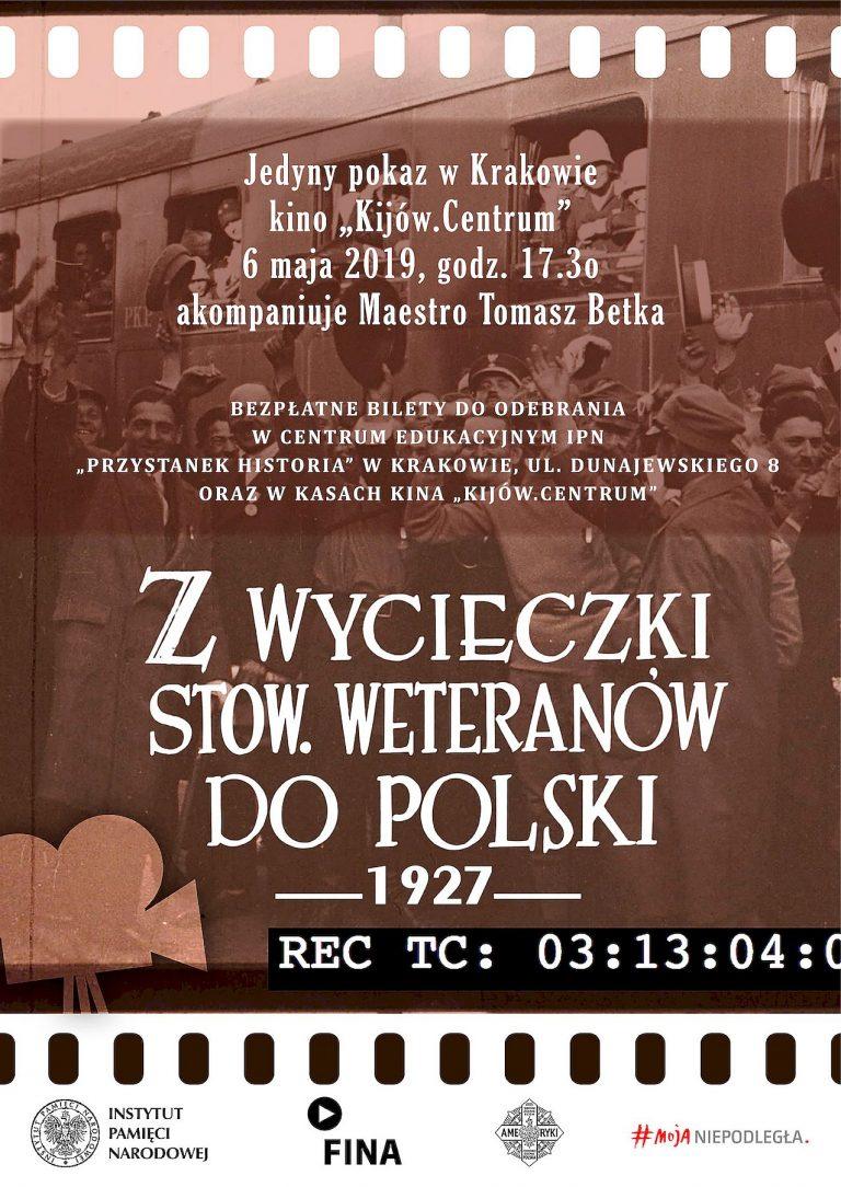Pokaz filmu archiwalnego o wycieczce Hallerczyków do Polski – Kraków, 6 maja 2019